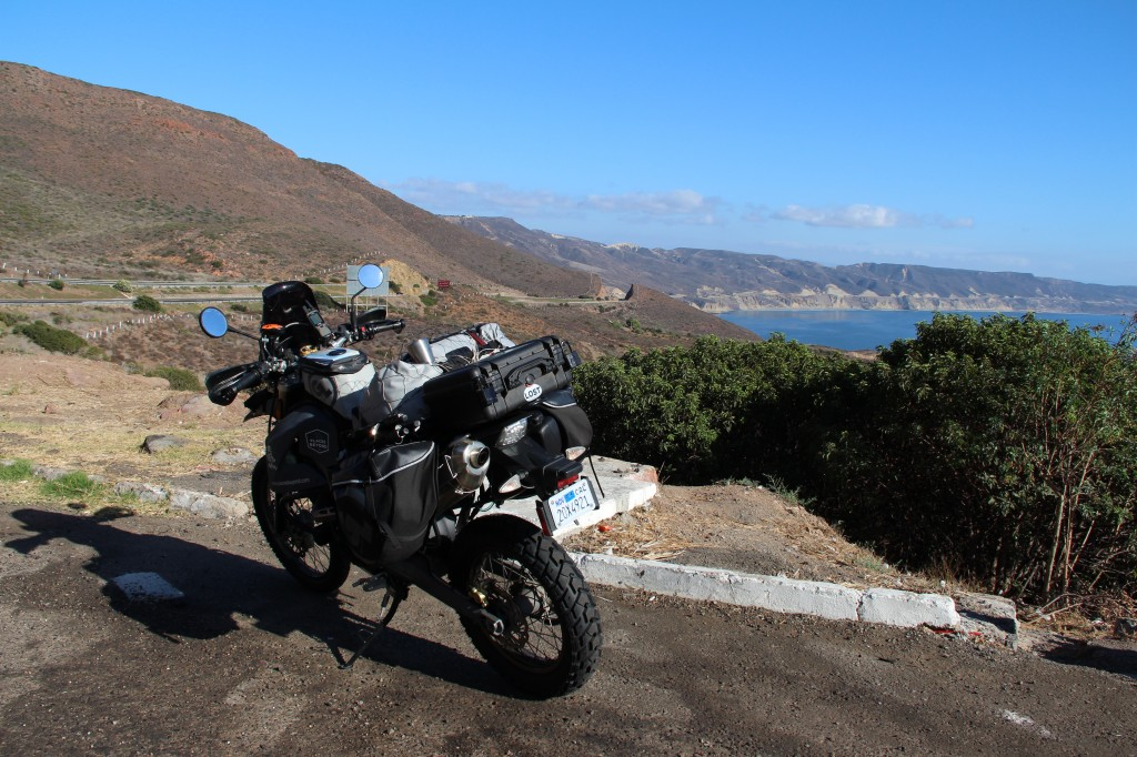 Baja California's Highway 1 runs along the coast and inland through mountains and deserts