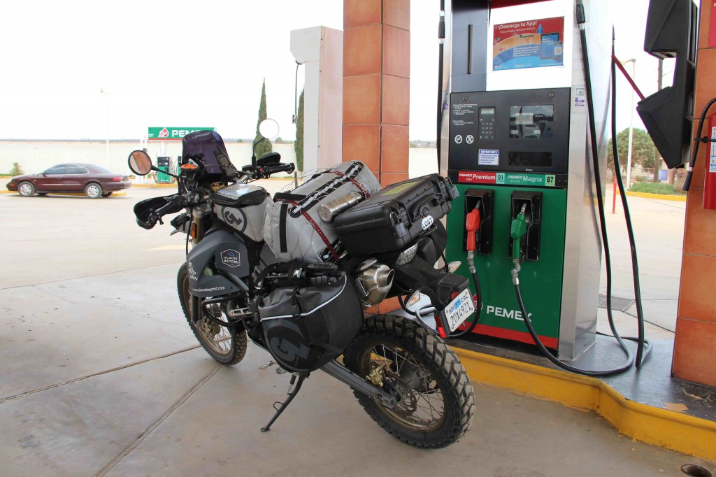 Typical gas stations in Mexico.