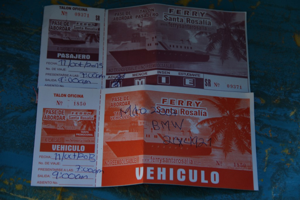Tickets to Santa Rosalia