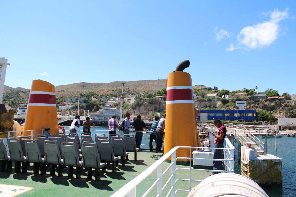 The upper deck of the Santa Rosalia Ferry