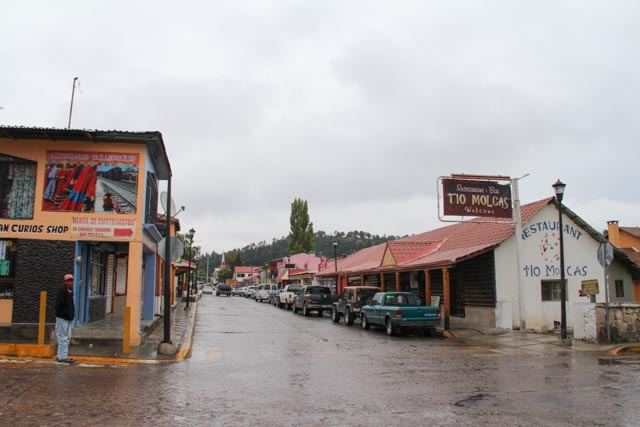 Main street of Creel, Mexico