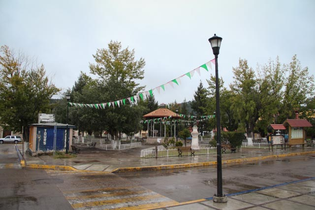 Central plaza in Creel