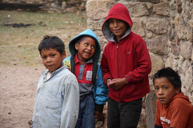 A group of kids at Cusarare Mission