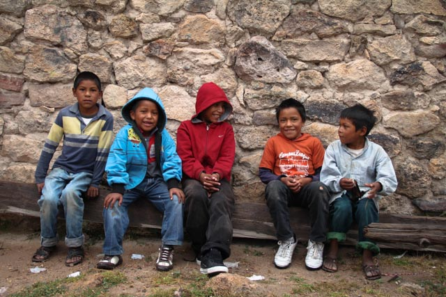 Kids at Cusarare Mission photo 2