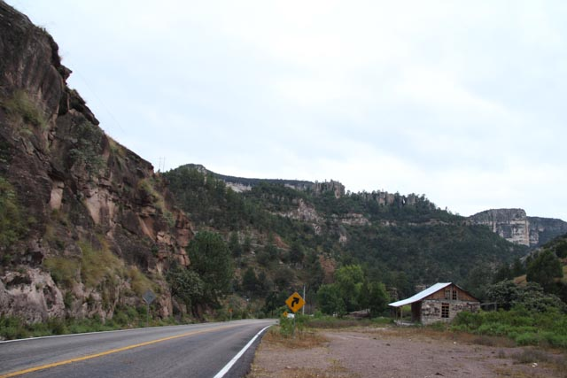I continued south along the winding canyon road.