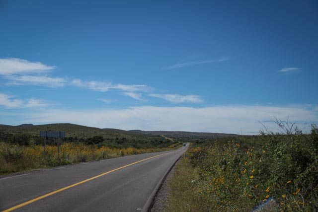 On the road from Parral to Durango.