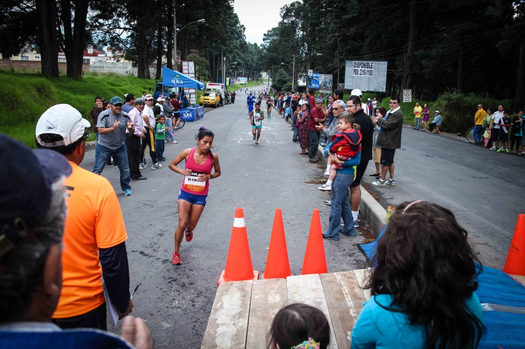The first Guatemalan woman leading the race.