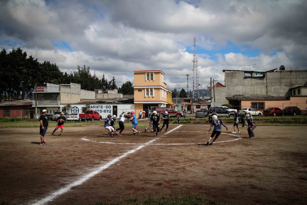 Good ol' American football being played in Xela Guatemala