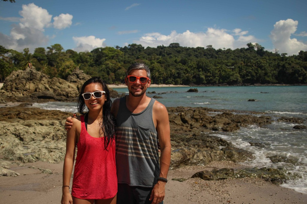 Fawna and I at Manuel Antonio National Park