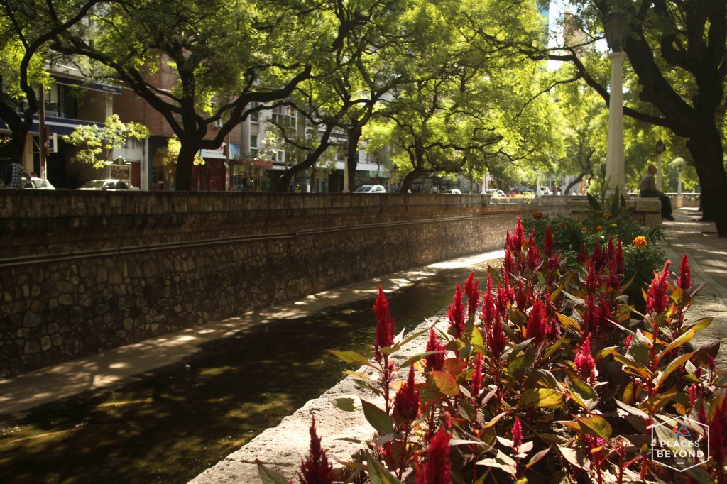 La Cañada, the beautiful river canal that runs through the heart of the city.